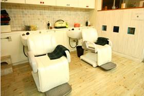 美容室リンクシャンプー台